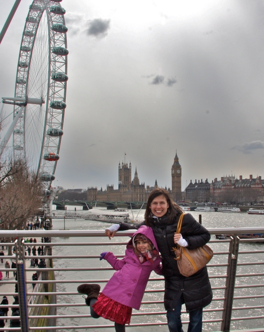 in front of big ben and the london eye